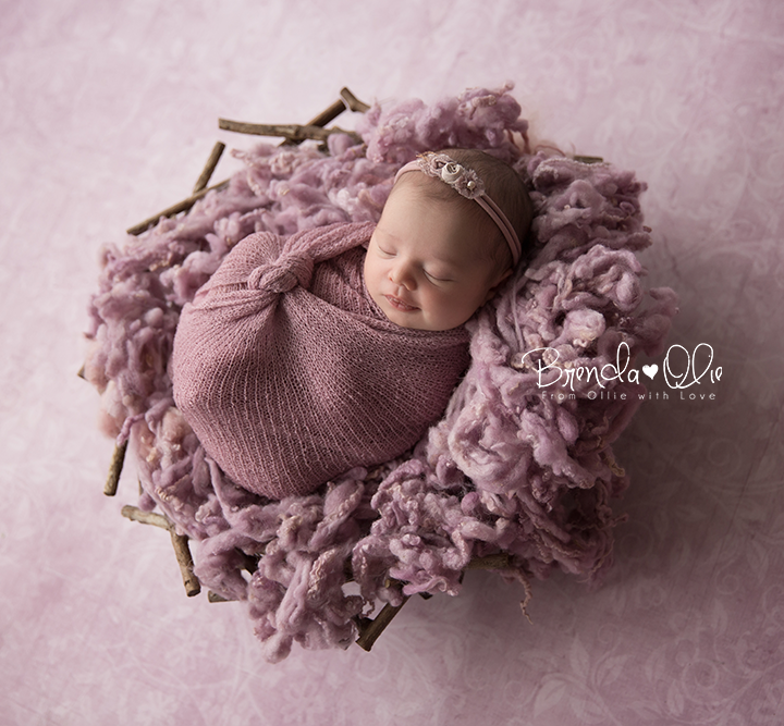 Newborn shoot in de studio