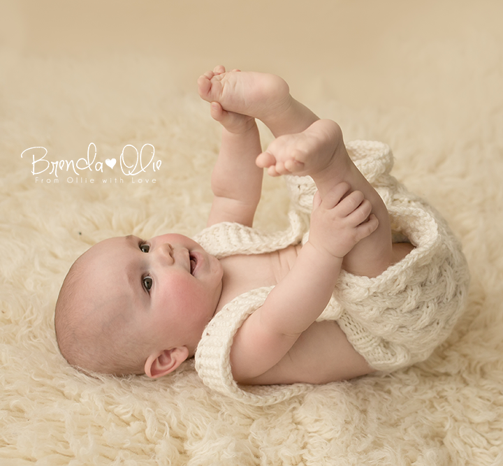 Baby shoot in de studio