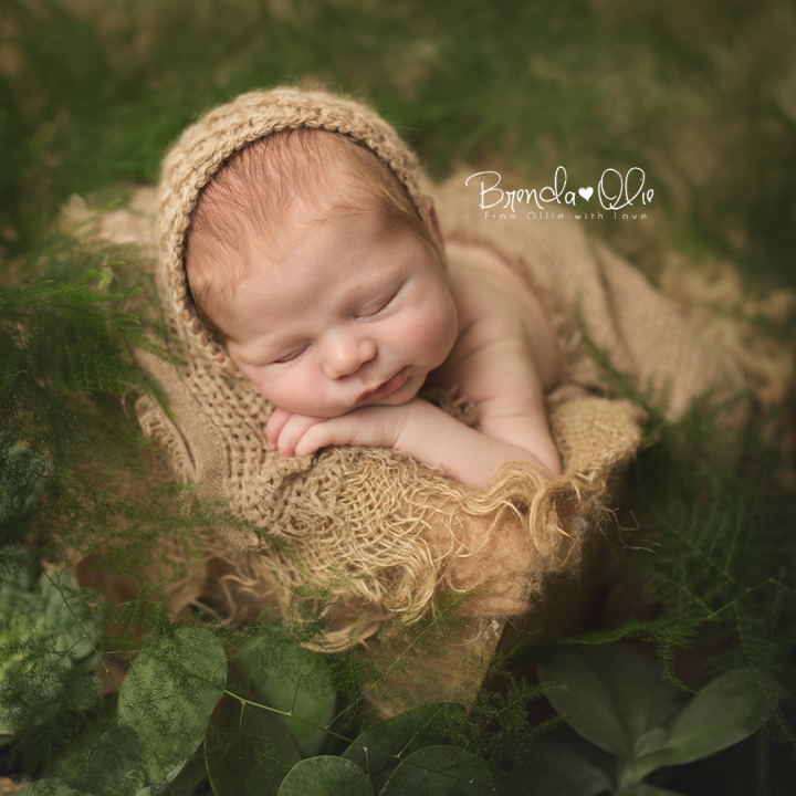 Newborn fotografie shoot in de daglicht studio