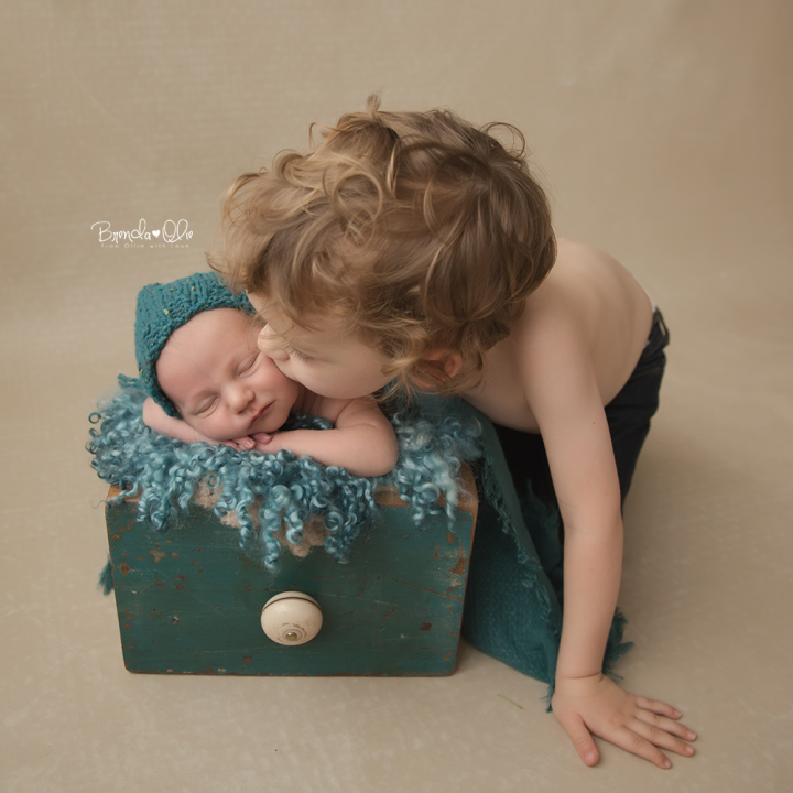 Newbornshoot in de studio