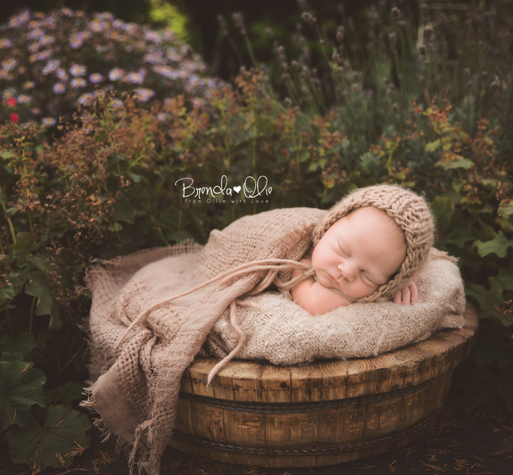 Outdoor newborn shoot